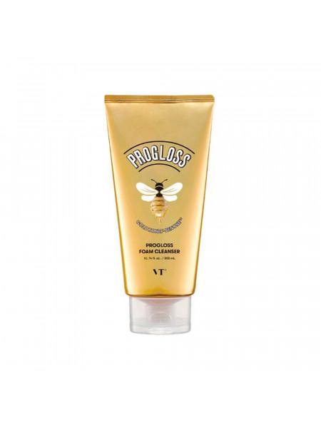 Очищающая пенка для умывания с медом и золотом Vt Cosmetics Progloss Foam Cleanser