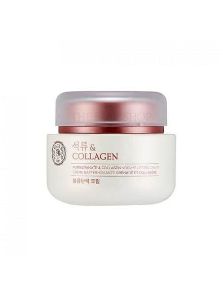 Лифтинг-крем с гранатом и коллагеном The Face Shop Pomegranate & Collagen Volume Lifting Cream