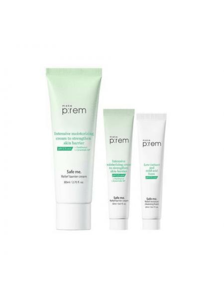 Ультраувлажняющий крем-барьер с керамидами Make P:rem Safe Me Relief Barrier Cream
