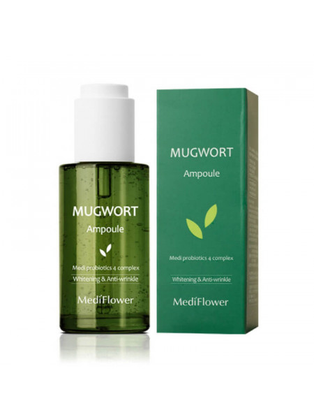 Успокаивающая сыворотка для проблемной кожи с полынью MediFlower Mugwort Ampoule