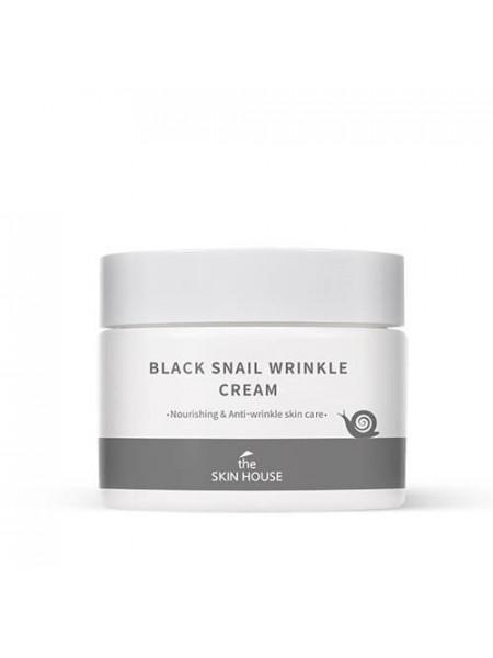 Крем против морщин с муцином улитки и черными бобами The Skin House Black Snail Wrinkle Cream