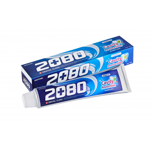 Зубная паста с мятой Dental Clinic 2080 Cavity Protection Double Mint 120 гр