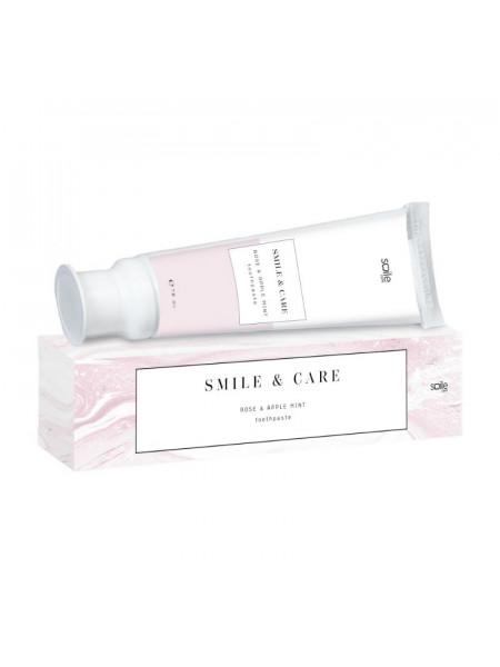 Зубная паста для чувствительных зубов, роза и мята