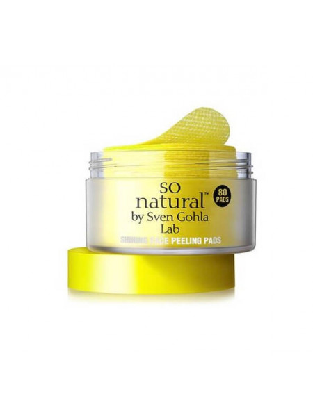 Пилинг-пэды с витамином С So'Natural Shining Face Peeling Pads