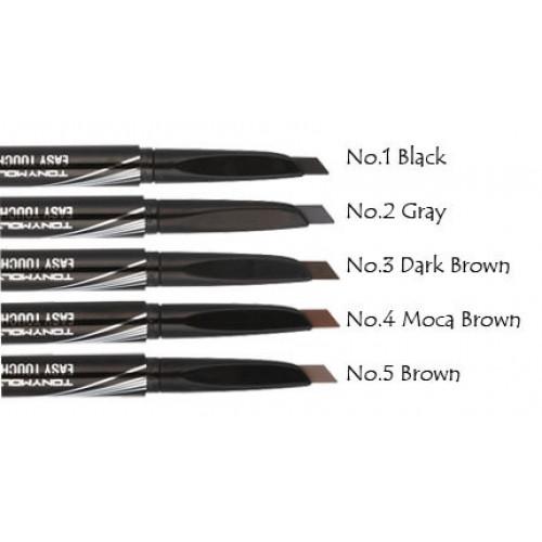 Авто-карандаш для бровей с щеточкой Tony Moly Easy Touch Auto Eye Brow Оттенок: 01 Blach (Черный)