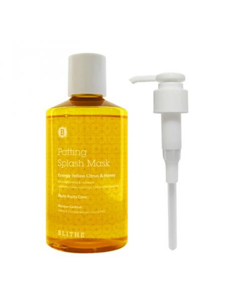 Сплэш-маска для сияния Patting Splash Mask Energy Yellow Citrus & Honey