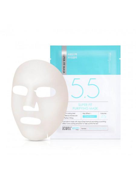 Успокаивающая тканевая маска для проблемной кожи Acwell Super-Fit Purifying Mask