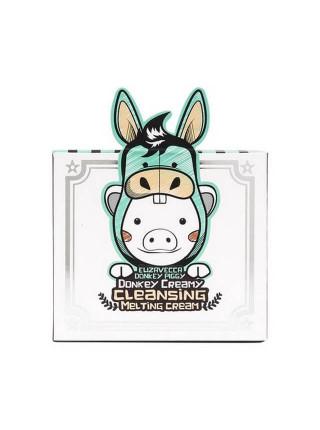 Очищающий крем с молоком ослиц Elizavecca Donkey Piggy Donkey Creamy Cleansing Melting Cream