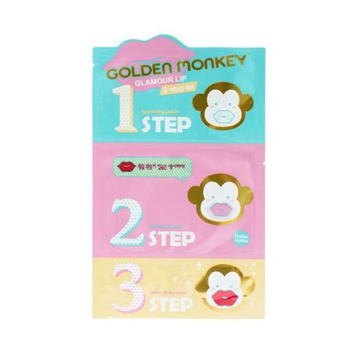 3-х ступенчатый набор средств для ухода за губами Holika Holika Golden Monkey Glamour Lip 3-Step