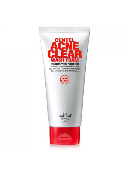 Лечебная пенка для проблемной кожи So'Natural Centel Acne Clear Wash Foam