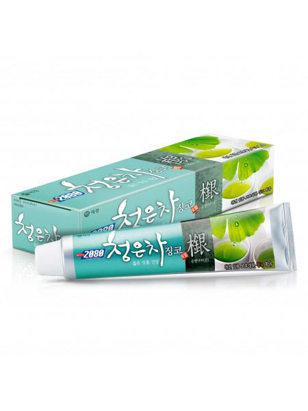 Зубная паста восточный чай с гинкго Dental Clinic 2080 Cheong-en-cha Ginkgo Toothpaste
