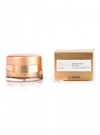 Антивозрастной крем для век The Saem Snail Essential EX Wrinkle Solution Eye Cream
