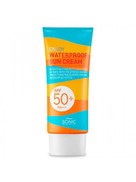 Водостойкий солнцезащитный крем для тела и лица Scinic Enjoy Waterproof Sun Cream SPF50+PA+++