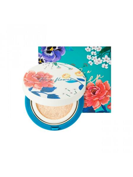 Кушон-хайлайтер Be A Flower Tone-Up Cushion 02 Gold, золотой