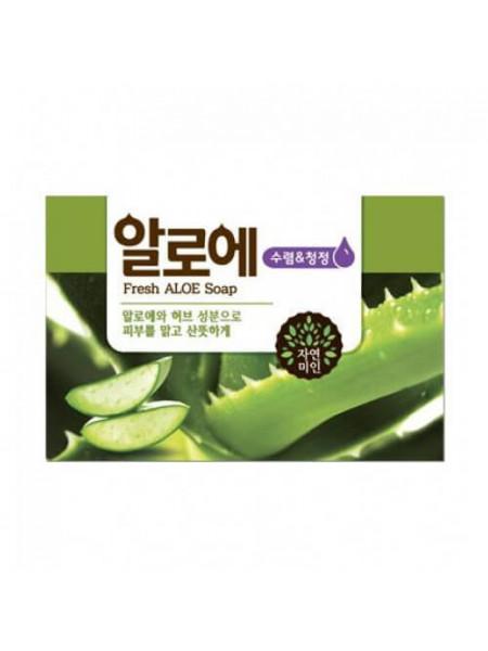 Мыло для лица и тела с алоэ вера Mukunghwa Fresh Aloe Soap