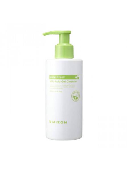 Очищающий гель для чувствительной кожи Mizon Pore Fresh Mild Acid Gel Cleanser