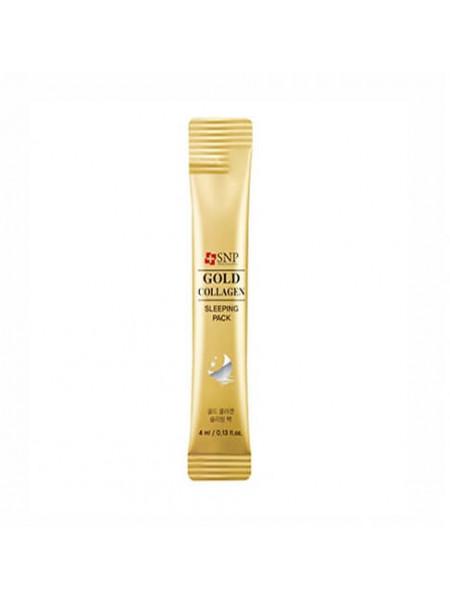 Антивозрастная ночная маска с коллагеном и золотом SNP Gold Collagen Sleeping Pack