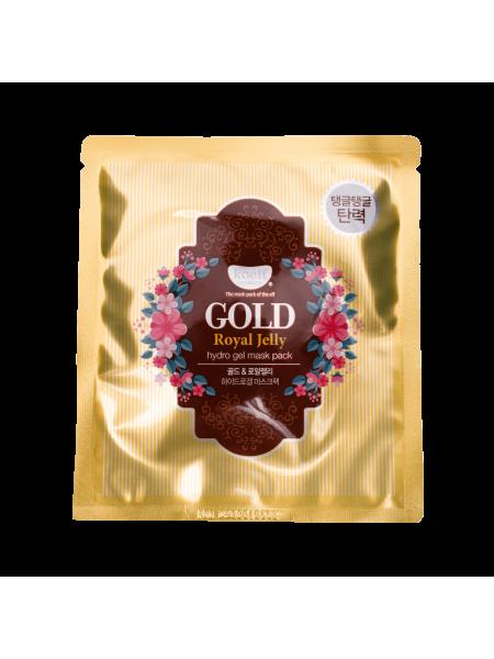Гидрогелевая маска для лица с золотом и маточным молочком Petitfee Koelf Gold & Royal Jelly Mask