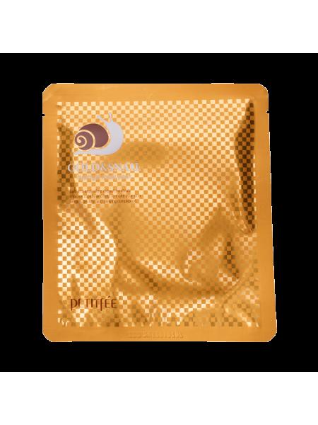 Гидрогелевая маска для лица с муцином улитки Petitfee Gold & Snail Hydrogel Mask Pack