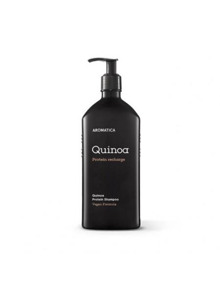 Бессульфатный шампунь c протеинами для повреждённых волос AROMATICA Quinoa Protein Hair Shampoo