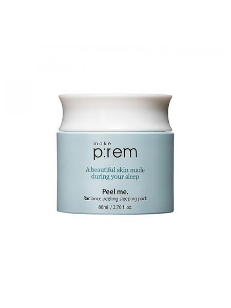 Обновляющая ночная маска с РНА кислотами MAKE P:REM Radiance Peeling Sleeping Pack
