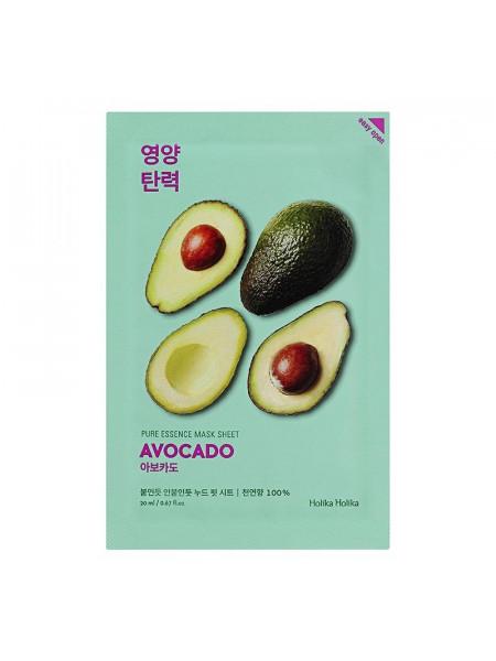 Смягчающая тканевая маска Pure Essence Mask Sheet Avocado, авокадо