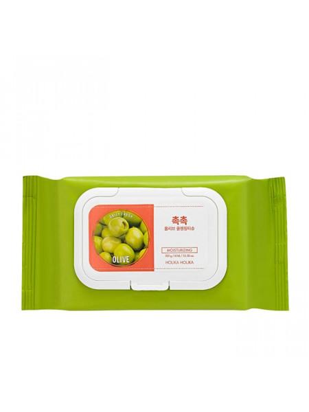 Cалфетки для удаления макияжа 60шт Daily Fresh Olive Cleansing Tissue