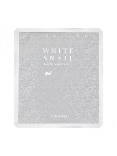 Гидрогелевая маска с экстрактом муцина белой улитки Prime Youth White Snail Tone Up Mask Sheet