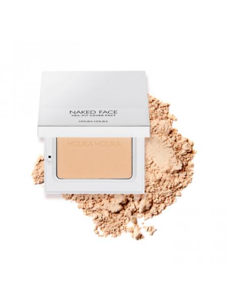 Компактная пудра для лица Naked Face Veil-Fit Cover Pact 02 Natural Beige, натурально-бежевый