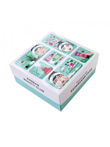 "Подарочная коробка ""Корейский уход"", маленькая (165х165х70)"