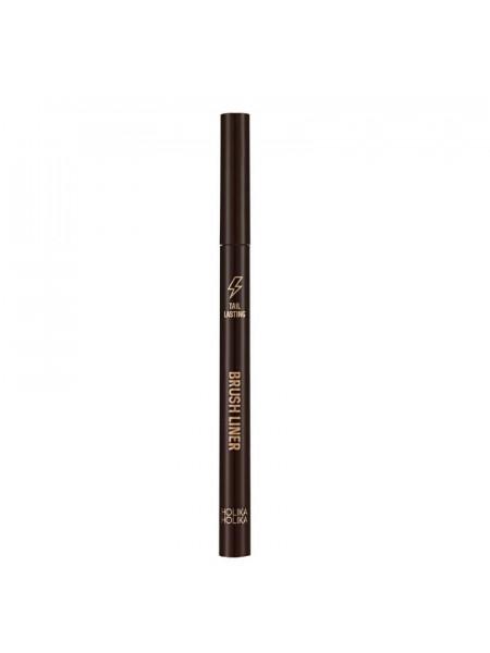 Подводка для глаз, тон 02, темно-коричневая Tail Lasting Brush Liner 02 dark brown