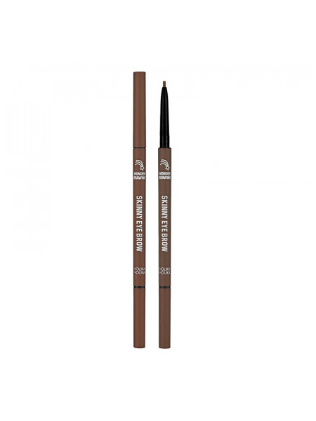 Карандаш для бровей Wonder Drawing Skinny Eye Brow 06 Choco Brown, шоколадно-коричневый