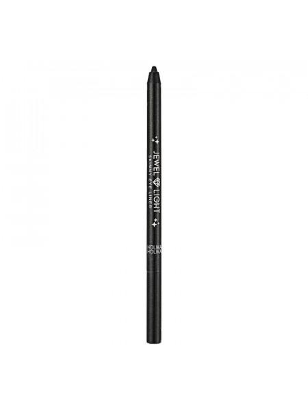Тонкий карандаш-подводка Jewel Light 01 Black twister, чёрный